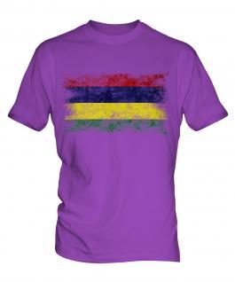 Mauritius Distressed Flag Mens T-Shirt