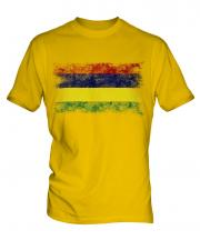Mauritius Distressed Flag Mens T-Shirt