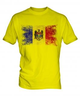 Moldova Distressed Flag Mens T-Shirt