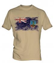 Montserrat Distressed Flag Mens T-Shirt