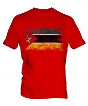 Mozambique Distressed Flag Mens T-Shirt