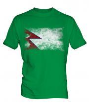 Nepal Distressed Flag Mens T-Shirt