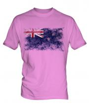 New Zealand Distressed Flag Mens T-Shirt
