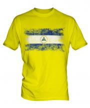 Nicaragua Distressed Flag Mens T-Shirt