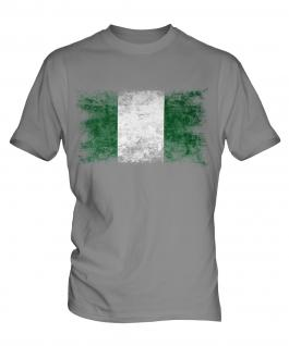 Nigeria Distressed Flag Mens T-Shirt