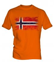 Norway Distressed Flag Mens T-Shirt