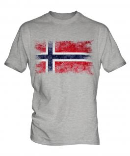 Norway Distressed Flag Mens T-Shirt