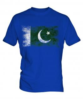Pakistan Distressed Flag Mens T-Shirt