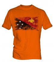 Papua New Guinea Distressed Flag Mens T-Shirt