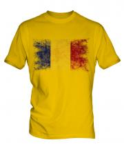 Romania Distressed Flag Mens T-Shirt