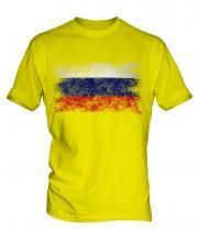 Russia Distressed Flag Mens T-Shirt