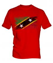 Saint Kitts And Nevis Distressed Flag Mens T-Shirt
