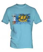 Saint Pierre And Miquelon Distressed Flag Mens T-Shirt