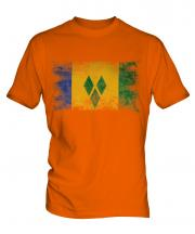 Saint Vincents And The Grenadines Distressed Flag Mens T-Shirt