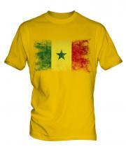 Senegal Distressed Flag Mens T-Shirt
