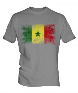 Senegal Distressed Flag Mens T-Shirt
