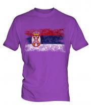 Serbia Distressed Flag Mens T-Shirt