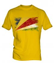 Seychelles Distressed Flag Mens T-Shirt