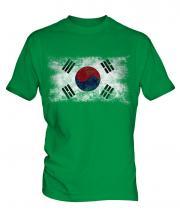 South Korea Distressed Flag Mens T-Shirt