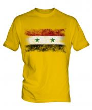 Syria Distressed Flag Mens T-Shirt