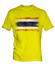 Thailand Distressed Flag Mens T-Shirt