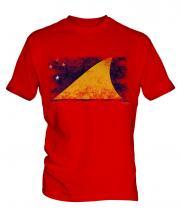 Tokelau Distressed Flag Mens T-Shirt