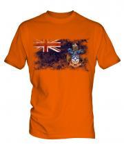 Tristan Da Cunha Distressed Flag Mens T-Shirt