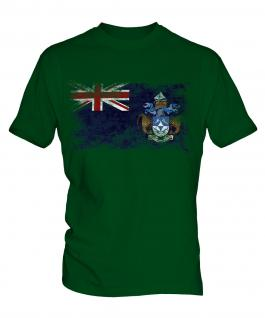 Tristan Da Cunha Distressed Flag Mens T-Shirt