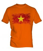 Vietnam Distressed Flag Mens T-Shirt