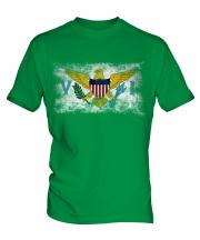 Us Virgin Islands Distressed Flag Mens T-Shirt