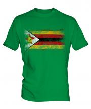 Zimbabwe Distressed Flag Mens T-Shirt