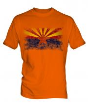 Arizona State Distressed Flag Mens T-Shirt