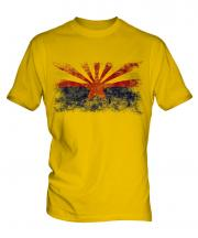 Arizona State Distressed Flag Mens T-Shirt
