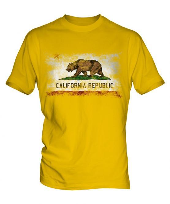 California State Distressed Flag Mens T-Shirt