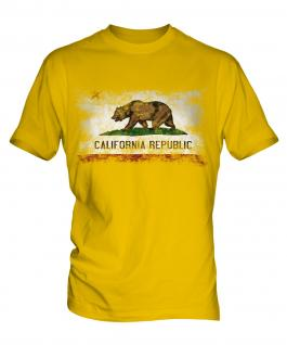 California State Distressed Flag Mens T-Shirt