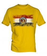 Missouri State Distressed Flag Mens T-Shirt