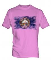 New Hampshire State Distressed Flag Mens T-Shirt