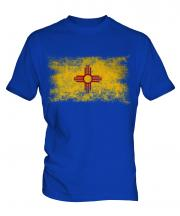 New Mexico State Distressed Flag Mens T-Shirt