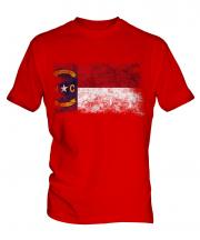 North Carolina State Distressed Flag Mens T-Shirt
