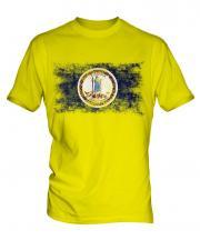 Virginia State Distressed Flag Mens T-Shirt