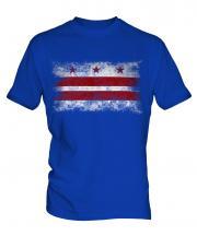 Washington Dc Distressed Flag Mens T-Shirt
