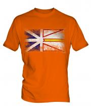 Newfoundland And Labrador Distressed Flag Mens T-Shirt