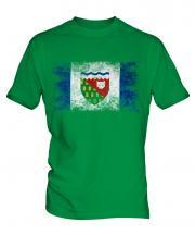 Northwest Territories Distressed Flag Mens T-Shirt