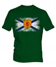 Nova Scotia Distressed Flag Mens T-Shirt
