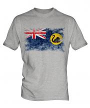 Western Australia Distressed Flag Mens T-Shirt