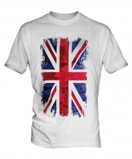 Union Jack Grunge Flag Mens T-Shirt
