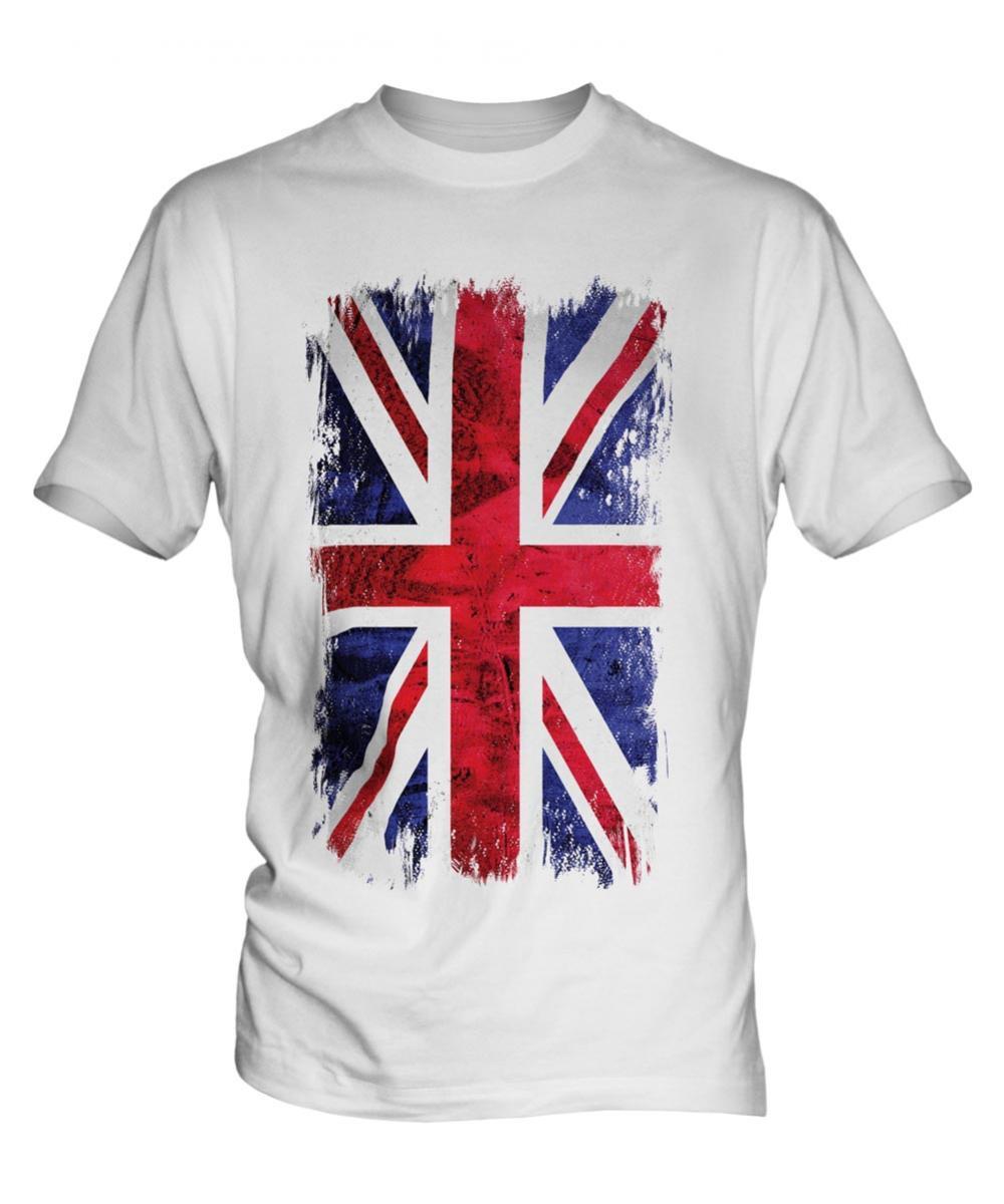fc2508369318 Union Jack Grunge Flag Mens T-Shirt