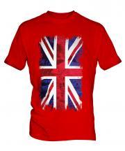 Union Jack Grunge Flag Mens T-Shirt