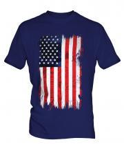 Stars And Stripes Grunge Flag Mens T-Shirt