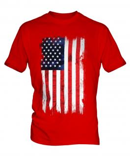 Stars And Stripes Grunge Flag Mens T-Shirt